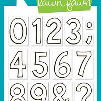 Lawn Fawn - Quinn's 123s Stamps