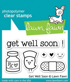 Lawn Fawn - Get Well Soon Stamps