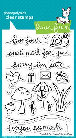 Lawn Fawn - Gleeful Gardens Stamps