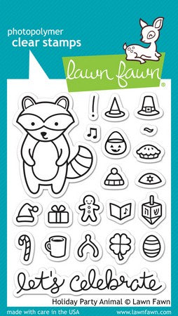 Lawn Fawn - Holiday Party Animal Stamps
