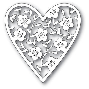 Memory Box - Dies - Floral Bouquet Heart