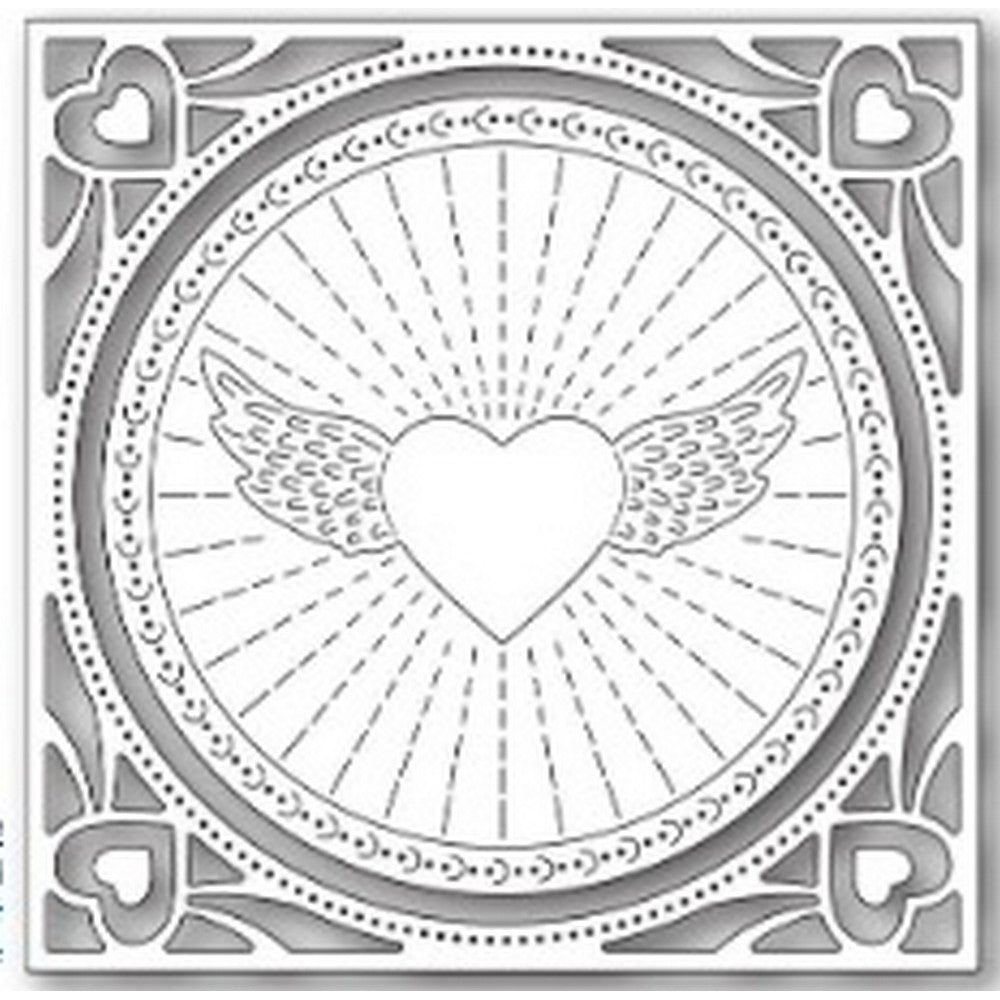 Memory Box - Dies - Winged Heart Frame