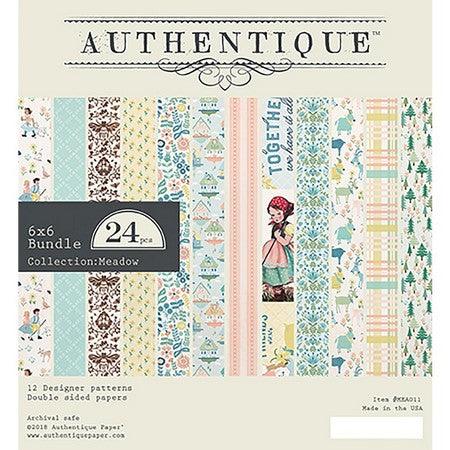 "Authentique - 6"" x 6"" Paper Pad - Meadow"
