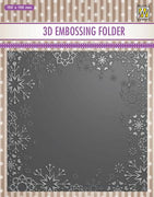 Nellie's Choice - 3D Embossing Folder - Snowflake Frame