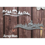 ScrapMan - Dies - Houses & Trees Set