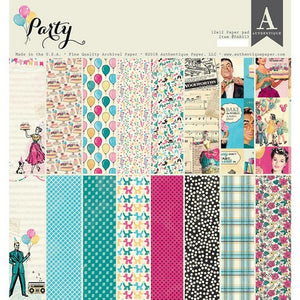 "Authentique - 12"" x 12"" - Double-Sided Cardstock Pad - Party"