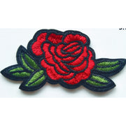 Patch / Applique - Sew / Iron - Rose With 5 Leaves