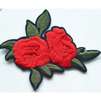 Patch / Applique - Sew / Iron - Two Roses