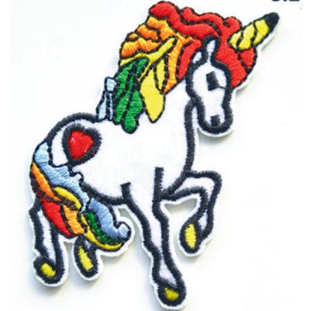 Patch / Applique - Sew / Iron - Rainbow Unicorn