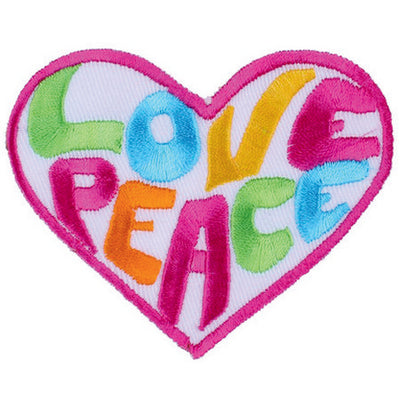 Patch / Applique - Sew / Iron - Peace/Love heart