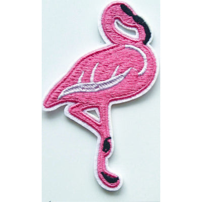 Patch / Applique - Sew / Iron - Pink Flamingo White Wing