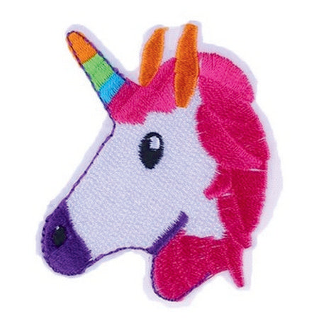 Patch / Applique - Sew / Iron - Pink Hair Unicorn