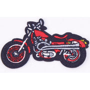 Patch / Applique - Sew / Iron - Red Motorcycle