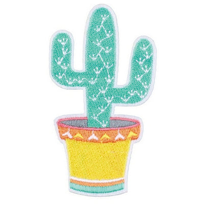 Patch / Applique - Sew / Iron - Cactus In Pot