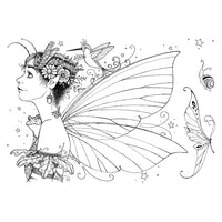 Pink Ink Designs A5 Clear Stamp Set - Acorn Fairy