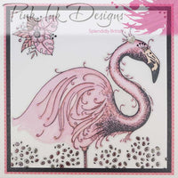Pink Ink Designs A5 Clear Stamp Set - Flamingo