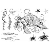 Pink Ink Designs A5 Clear Stamp Set - Sea Turtle