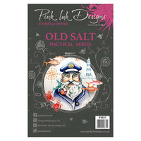 Pink Ink Designs A5 Clear Stamp Set - Old Salt