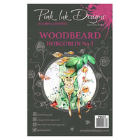 Pink Ink Designs A5 Clear Stamp Set - Woodbeard