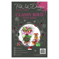 Pink Ink Designs Clear Stamp - Classy Bird