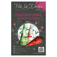 Pink Ink Designs Clear Stamp - Festive Cone