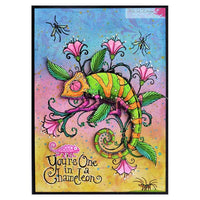 Pink Ink Designs Clear Stamp - Chameleon