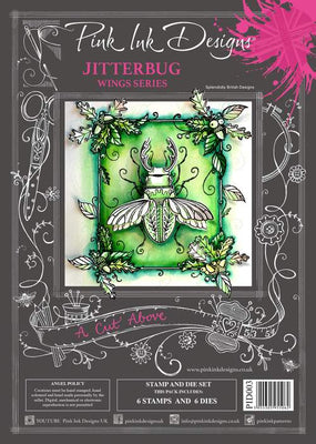 Pink Ink Designs - A Cut Above - Jitterbug Stamp/Die Set