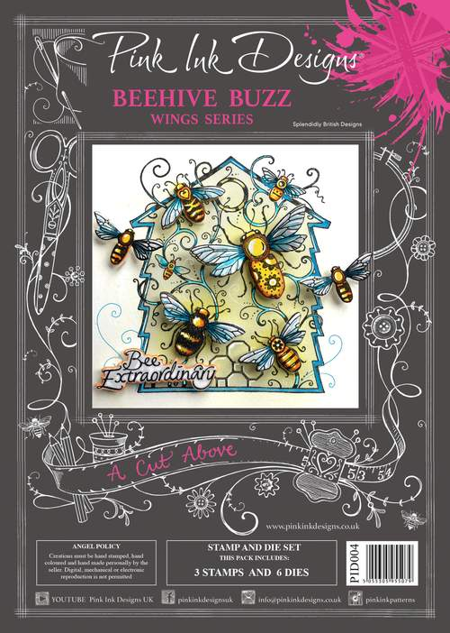 Pink Ink Designs - A Cut Above - Beehive Buzz Stamp/Die Set