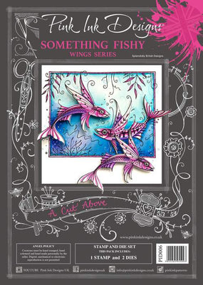 Pink Ink Designs - A Cut Above - Something Fishy Stamp/Die Set