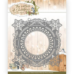 Precious Marieke - Dies - The Nature of Christmas - Christmas Snowflake Frame