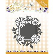 Precious Marieke - Dies - Early Spring - Spring Flowers Square Label