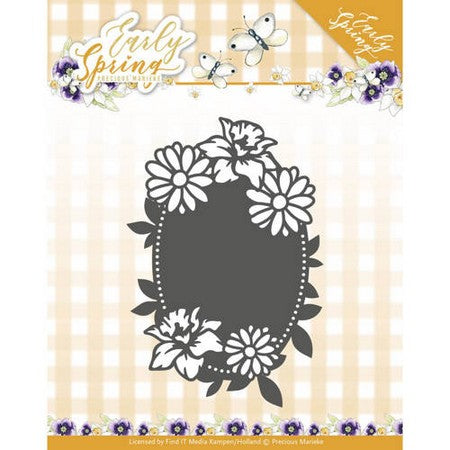 Precious Marieke - Dies - Early Spring - Spring Flowers Oval Label