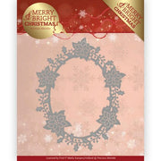 Precious Marieke - Dies - Merry & Bright - Poinsettia Oval