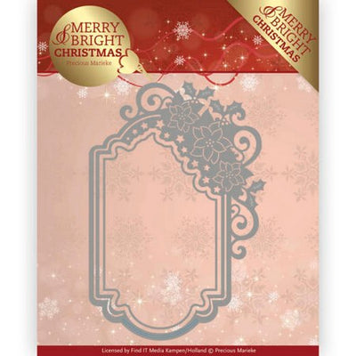 Precious Marieke - Dies - Merry & Bright - Poinsettia Ornament