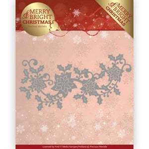 Precious Marieke - Dies - Merry & Bright - Poinsettia Border