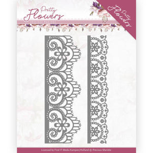Precious Marieke - Dies - Pretty Flowers - Lace Border