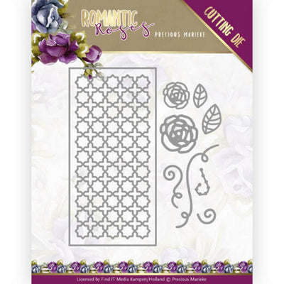 Precious Marieke - Dies - Romantic Roses - Rose Fence Rectangle