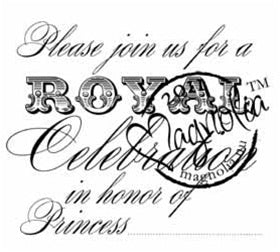 Magnolia Stamps - Prince & Princesses - Please Join Princess #957