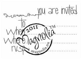Magnolia Stamps - Prince & Princesses - Your Are Invited To #974