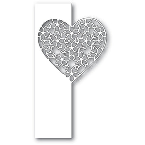 Poppystamps - Dies - Floral Lace Heart Split Border