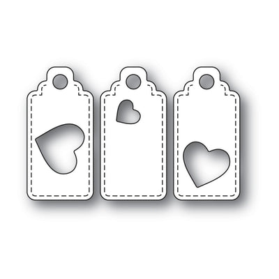 Poppystamps - Dies - Heart Tag Trio