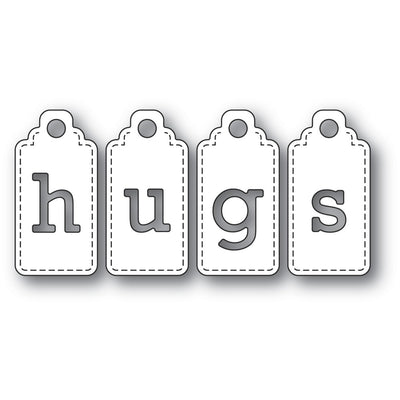 Poppystamps - Dies - Hugs Tags