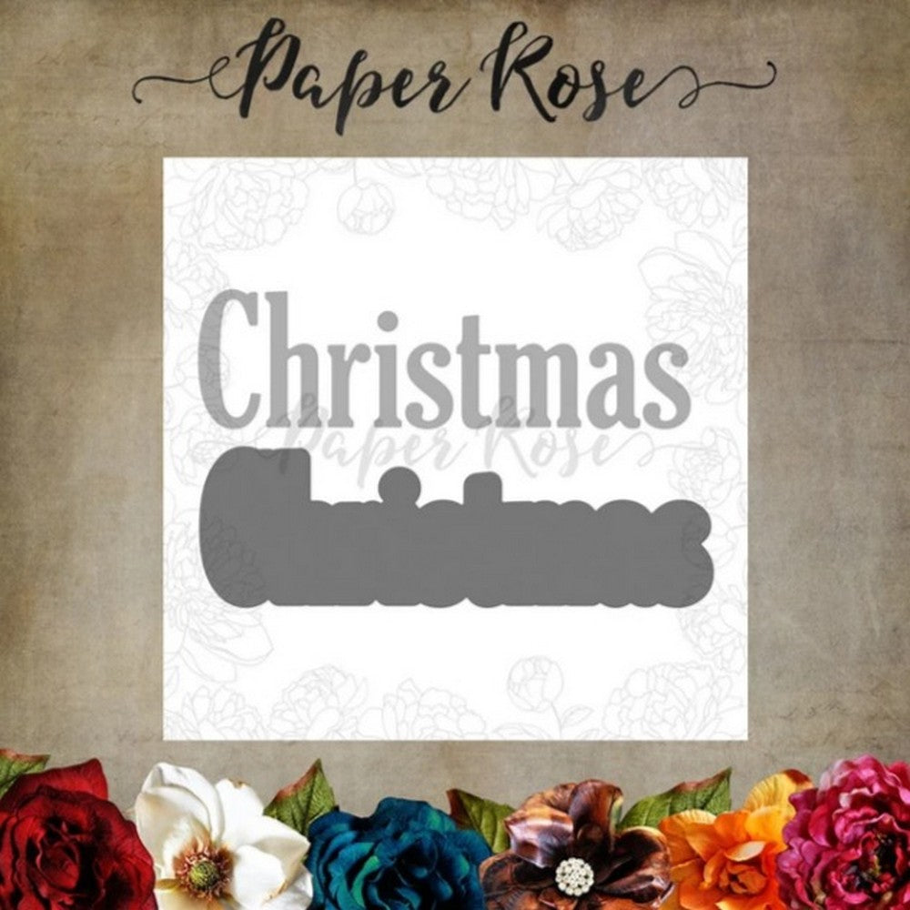 Paper Rose - Dies - Christmas Bold Layered