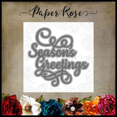 Paper Rose - Dies - Season's Greetings 1