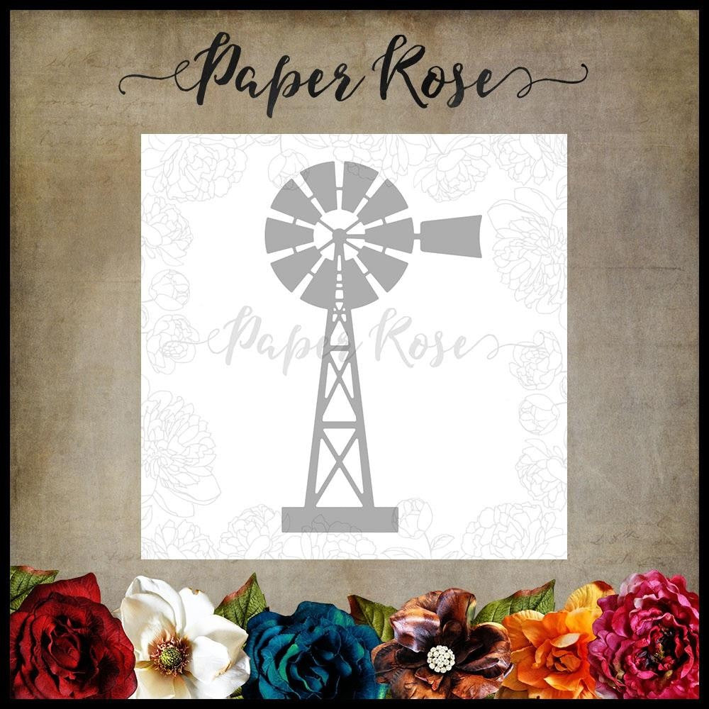Paper Rose - Dies - Windmill Large
