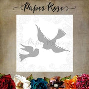 Paper Rose - Dies - Dove Birds