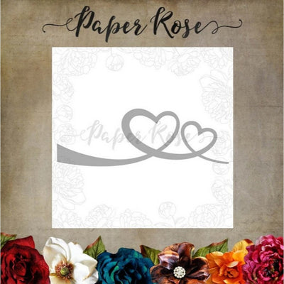Paper Rose - Dies - Heart Border