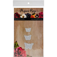 Paper Rose - Dies - Butterfly Trio Solid
