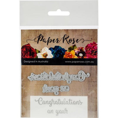 Paper Rose - Dies - Congratulations On Your