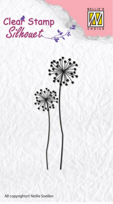 Nellie's Choice - Clear Stamp - Silhouette Flower 9